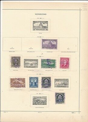 [OP1167] Honduras lot of stamps on 6 PAGES - see photos and description