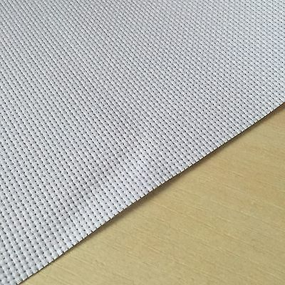 Aida 14 Count White/light Green Cross Stitch Fabric Material 100% Cotton