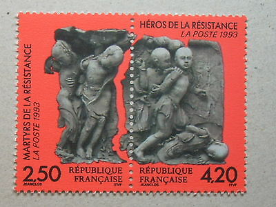 FRANCE 1993 MARTYRS & HEROES OF THE RESISTANCE MNH SG3142a