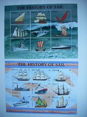 Grenada 1998 Famous Ships Set Of 18 Mnh S3542/59