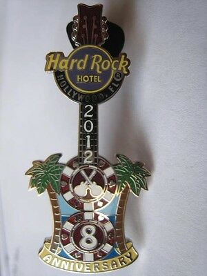 8th Anniversary Chips Guitar HRC Hard Rock Hotel Hollywood FL Pin LE