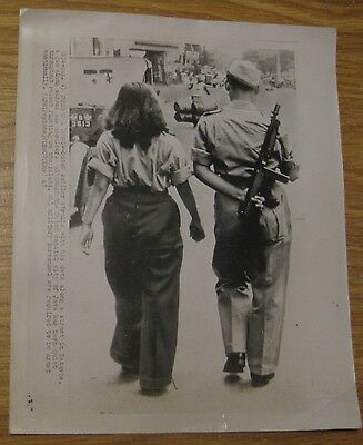 Original Vintage 1947 Dutch Military Soldier With His Date In Batavia Photograph