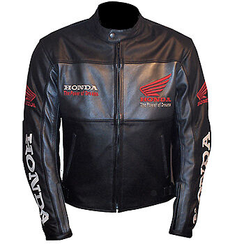 Honda Motorcycle Motorbike Racing Leather Jacket Ce Approved Protection