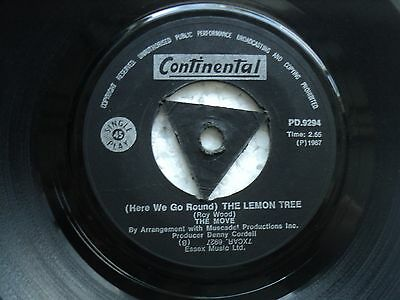 The Move - Flowers in the Rain/ The Lemon Tree - Rare S.Rhodesia Triangle 45 RPM