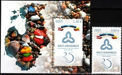ESTONIA 2016-22 Baltic Assembly - 25. Joint Issue. Single & Souvenir sheet, MNH