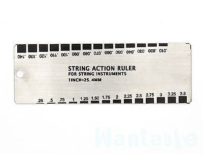 Mini Stainless Steel Guitar String Action Gauge Ruler Guide Luthier Setup Tool