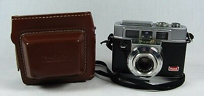1960's Kodak 35F 35mm Camera with Strap and Field Case Vintage Photography