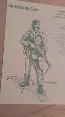 Falklands war-3 variedserious and satirical postcards  one a limited edition