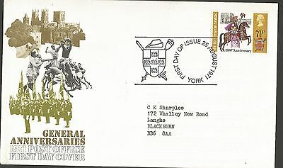 """GB stamps four first day covers """"General Anniversaries"""" August 1971"""