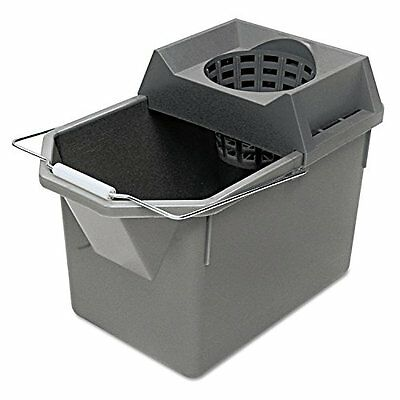 Rubbermaid Commercial FG619400STL HDPE Pail and Mop Strainer Combination, 15-Qua