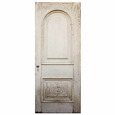 "Reclaimed Antique 34"" Arched Panel Door, NED608"