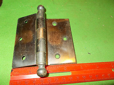 Vintage Antique Old Offset Kinney Hinge Large 3 1/2 Inch Heavy Duty