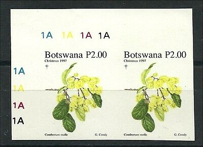 1997, Christmas plants, Weihnachts-Pflanzen,  imperforate  corner pair,
