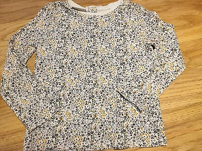 Next Age 3-4 Girls Top.  Ditsy Print Yellow And Grey