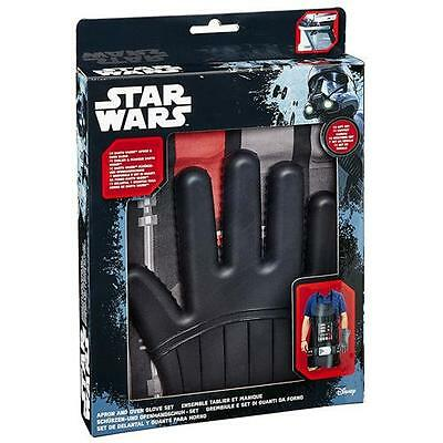 Star Wars - Darth Vader Apron & Silicone Oven Glove Set - New & Official In Box