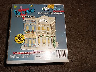 California Creations Holiday Village Fun to Paint Police Station SE184