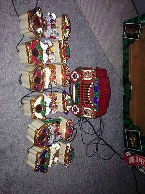 Mr Christmas Holiday Carousel - Musical Carousel with 6 Carousel Horses