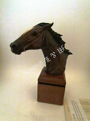 Mill Creek Home Stretch # 94010 Horse small nick in wood on back side.