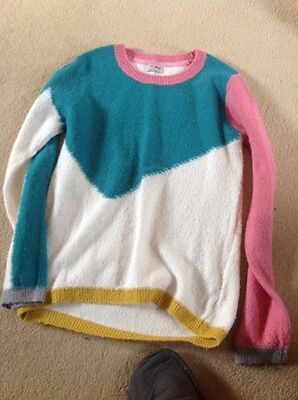 Girls Next age 12 White, Green, Pink and Yellow Jumper