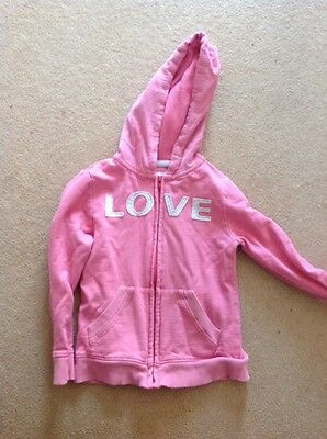 Girls age 4-5 Pink Hooded Zip Up Hooded Top