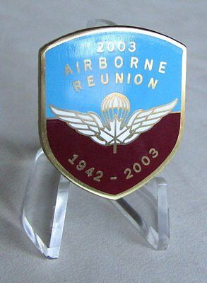 CANADA ARMY  Canadian Airborne Regiment Paratrooper 1942- 2003 Reunion Lapel Pin