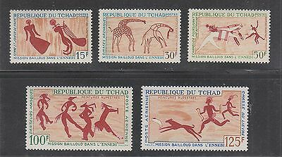 CHAD #148-150, C38-C39 Mint Never Hinged 1967 ROCK PAINTINGS SCV $28.50
