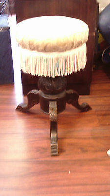 Victorian height adjustable piano stool suitable for dressing table stool