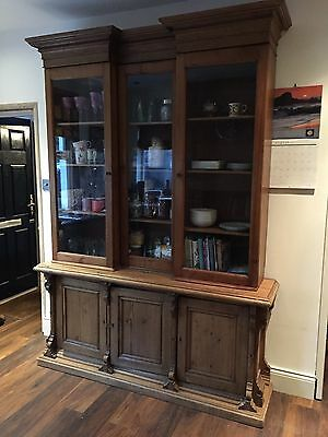 Antique Pine glass unit, bookcase, dresser or£ cupboard unit.