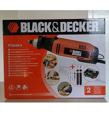 BLACK & AND DECKER RT650KA MULTI ROTARY TOOL  WITH CASE Not Dremel