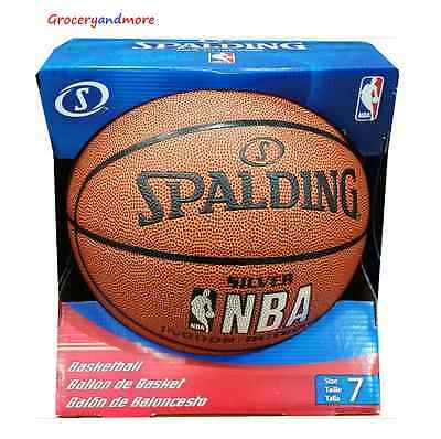 Spalding NBA SILVER INDOOR / OUTDOOR Basketball Ball Sports Ball Size 7 - New