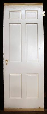 "2 availble 30""x84""x175"" Antique Vintage Interior Solid Wood Wooden Door 6 Panels"