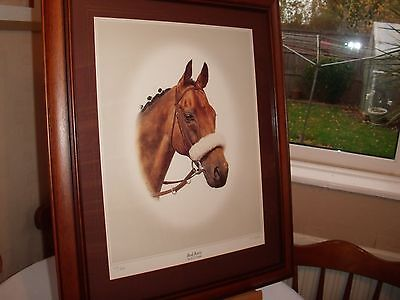 Red Rum Portrait Signed  Ltd Edition 461 Of 850 Collection From Studley B80 7Qj