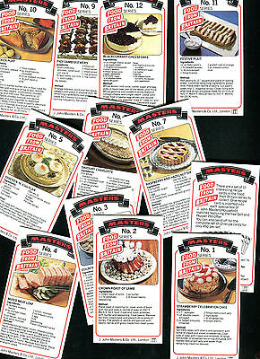 "John Masters Matches 1987 Set Of 12 ""food From Britain"" Recipe Trade Cards"
