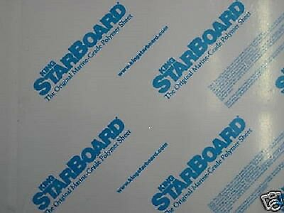 """1/2"""" X 12"""" X 27""""  White King Starboard Polymer Hdpe *"""