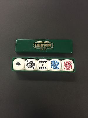 Vintage Draught Burton Ale Poker Dice Set
