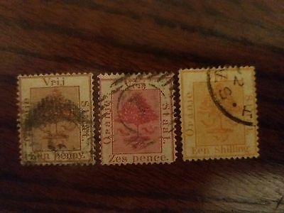 Orange Free State 1868 FU collection upto 1 shilling