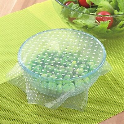 Kitchen Reusable Silicone Food Storage Wrapper Containers Bowl Sealing Cover ...