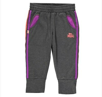 lonsdale girls 2 stripe three quarter jogging bottom age 7-8 yrs.
