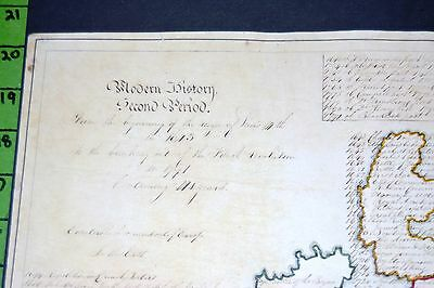 Map of England Ireland Italy France with Hand Written history Make Offer!!