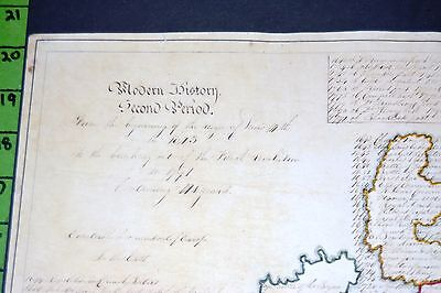 Map of England Ireland Italy France with Handwritten history Make Offer!!