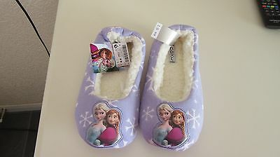 New Next Disney Frozen Lilac Older  Kids  Slippers  Size 2 UK EUR 34.5 Anna Elsa