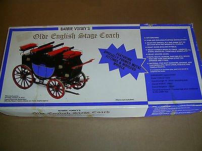 Barrie Voisey Olde English Stage Coach wooden model kit