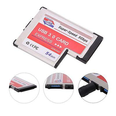 USB3.0 NEC Chip Adapter Expansion PCMCIA Express 2 Port Card for Notebook Laptop