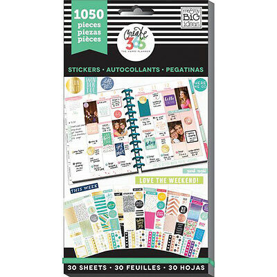 Create 365 Happy Planner Sticker Value Pack-This Colorful Life, 1050/Pkg