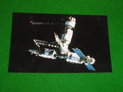 Soviet Union Russia Space Station Mir Postcard