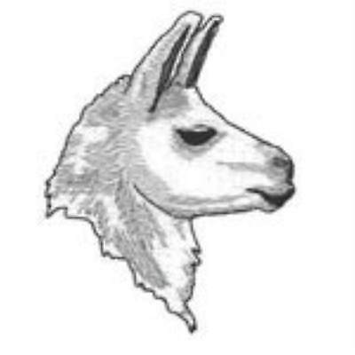 Llama Head (white)  Embroidery Patch