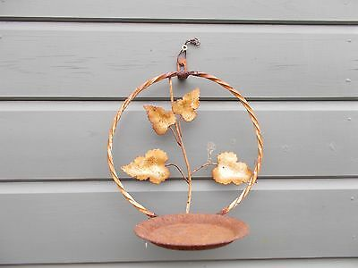 French metal rustic wall plant holder , garden