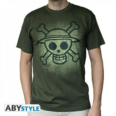 "One Piece T-Shirt ""Skull with Map used Look"""