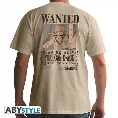 "One Piece T-Shirt ""Wanted Ace - beige"""