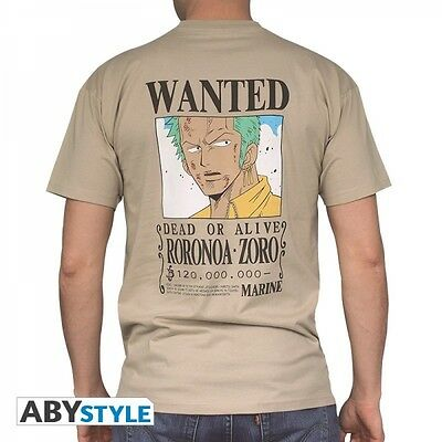 "One Piece T-Shirt ""Wanted Zoro - beige"""